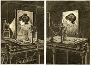 Edison Framed Prints - Early Television System, 19th Century Framed Print by Sheila Terry