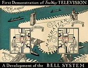 New Jersey History Posters - Early Video Phone System, 1930 Poster by Sheila Terry