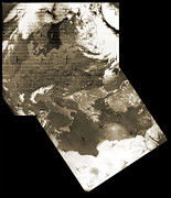 Observation Posters - Early Weather Satellite Images Poster by Detlev Van Ravenswaay