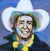 Willie Nelson Painting Originals - Early Willie the Flying Cowboy by Les Leffingwell