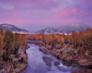 Winter Sunset Posters - Early Winter Sunset Poster by Leland Howard