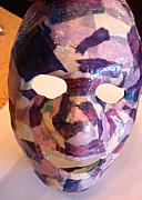 Purple Ceramics - Early Work- Mask by Karley Snyder