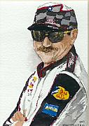Nascar Paintings - Earnhardt Attitude by Lynn Babineau