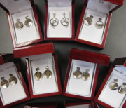 Organic Jewelry - Earrings in boxes by Brenda Berdnik