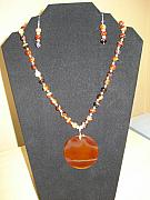 Orange Jewelry Originals - Earth and Fire by Tonya Hoffe