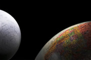 Big Blue Marble Photo Prints - Earth and Moon Print by Rob Byron
