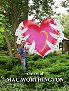 Popart Sculpture Prints - Earth Angel Print by Mac Worthington