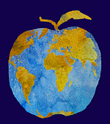 Geography Digital Art - Earth Apple by Jenny Armitage
