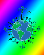 Linda D Seacord Posters - Earth Day Brillance Poster by Linda Seacord