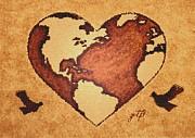 Earth Day Gaia Celebration Digital Art Print by Georgeta  Blanaru