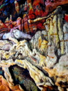 Rocks Tapestries - Textiles Originals - Earth Detail One by Kimberly Simon