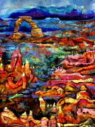 Rocks Tapestries - Textiles Originals - Earth Detail Two by Kimberly Simon