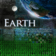 Child Digital Art Posters - Earth Poster by Evie Cook