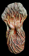 Spiritual Art Reliefs - Earth Hands by Lauren Raine