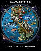 Earth Print by Kevin Middleton
