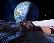 Exoplanet Photos - Earth-like Planet, Artwork by Detlev Van Ravenswaay
