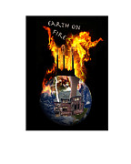 World Events Prints - Earth on Fire Print by Lee Bennett