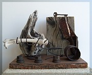 Wood Sculpture Sculpture Originals - Earth Radio by Snake Jagger