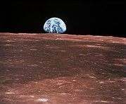 1969 Photos - Earth Rising by Nasa