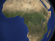 Cameroon Prints - Earth Showing Landcover Over Africa Print by Stocktrek Images