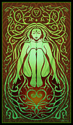 Psychedelic Metal Prints - Earth Spirit Metal Print by Cristina McAllister