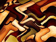 Abstract Digital Art - Earth Weave by Vicky Brago-Mitchell