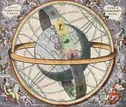 Harmonia Macrocosmica Posters - Earth With Celestial Circles, Harmonia Poster by Science Source