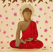 Witness Prints - Earth Witness Buddha Print by Sabina Espinet