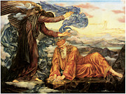 Angel Art Paintings - Earthbound by Evelyn De Morgan