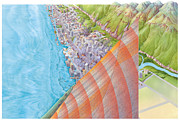 Earthquake Prints - Earthquake, Before And After Print by Gary Hincks
