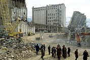 Earthquake Prints - Earthquake Damage In Armenia 1989 Print by Ria Novosti