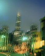 "Lights ""san Francisco"" Prints - Earthquake Tremor Print by David Parker"