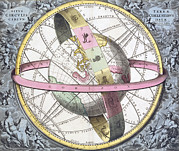Macrocosmica Posters - Earths Celestial Circles, 1708 Artwork Poster by Royal Astronomical Society