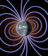 Magnetic Field Posters - Earths Magnetic Field Poster by Roger Harris