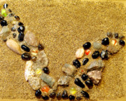 Sand Mixed Media Originals - Earths Necklace by Bert Garrison