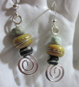 Dangles Jewelry - Earthy Spiral Earrings by Janet  Telander