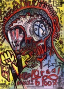 Neo Expressionism Framed Prints - Easily Distracted Framed Print by Robert Wolverton Jr