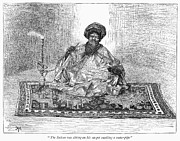 Smoker Framed Prints - East Africa: Sultan, 1889 Framed Print by Granger