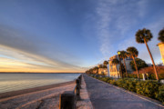 Beautiful Digital Art Originals - East Battery Row Charleston South Carolina Sunrise by Dustin K Ryan