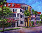 Rainbow Row Paintings - East Bay - Charleston  by Jeff Pittman