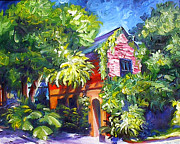 Charleston Painting Posters - East Bay House in Charleston  Poster by James Christopher Hill