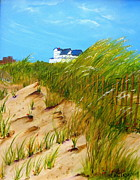 Norfolk; Painting Prints - East Beach  Norfolk VA Print by Mary Kay Holladay
