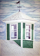 Weathervane Painting Prints - East Boothbay Cupola Print by Daryl Shaw