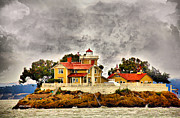 Victorian Architecture Prints - East Brother Lighthouse Print by Cheryl Young