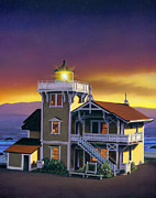 Lighthouse Art - East Brother Lighthouse by MGL Studio - Chris Hiett
