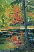 Fall Colors Autumn Colors Pastels Posters - East Coast Autumn Poster by Billie Colson