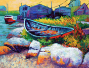 Seashore Painting Framed Prints - East Coast Boat Framed Print by Marion Rose