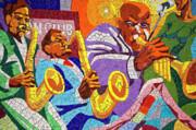 East Eleventh Street Tile Mural Austin Print by Mark Weaver