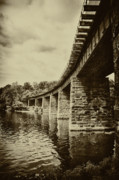 Schuylkill Prints - East Falls Rail Road Bridge Print by Bill Cannon