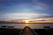 Chesil Beach Prints - East Fleet Jetty Print by Kris Dutson
